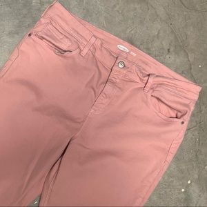 Pink skinny jeans plus sized
